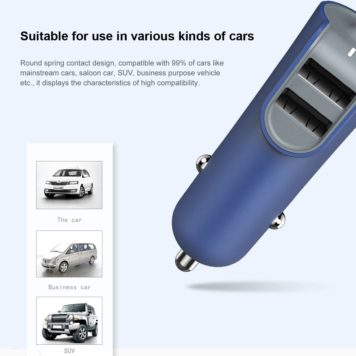 Baseus Car-charger For IPhone With 2 USB Ports
