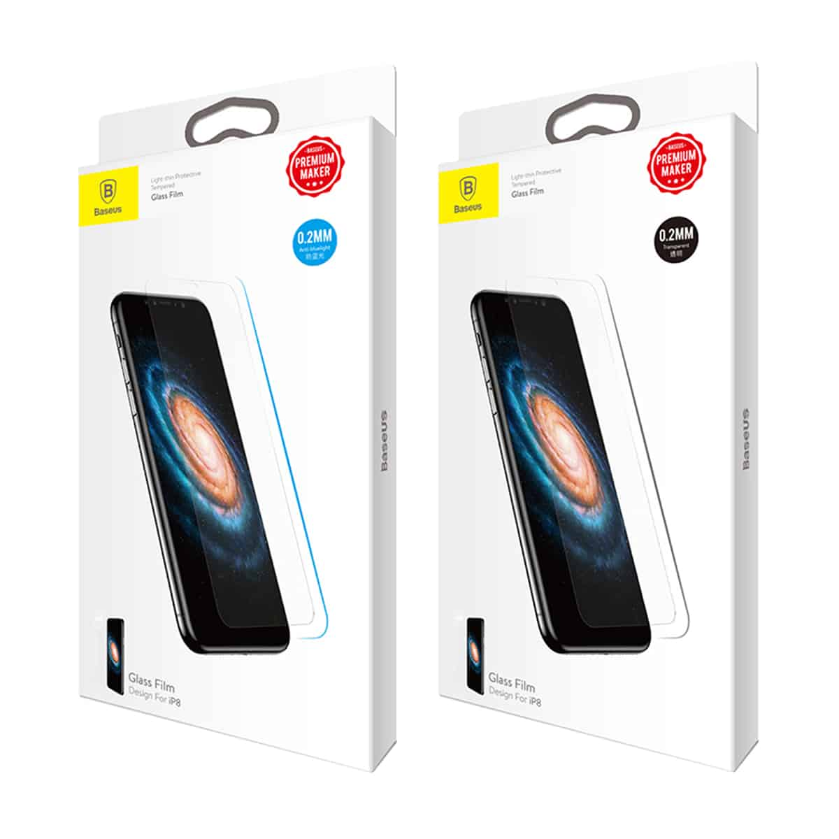 the latest 5bf58 b15b8 Baseus 0.2mm Thin Glass Screen Protector For iPhone X