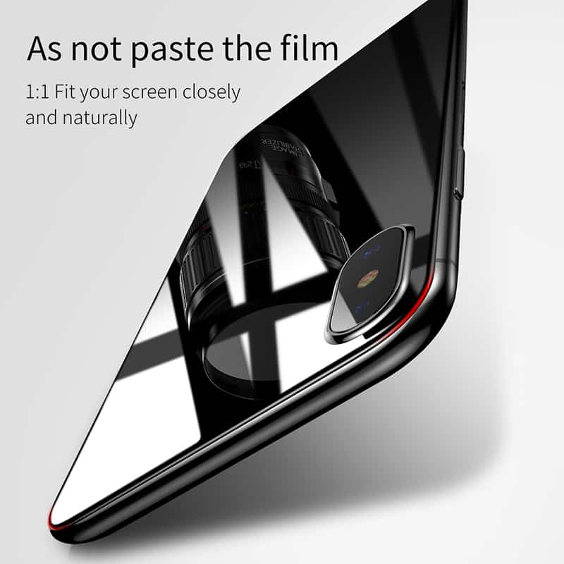 on sale 0e5ef 4f369 Baseus 3D Round Curved Edge Screen Protector For iPhone X Full Cover  Front+Back Tempered Glass