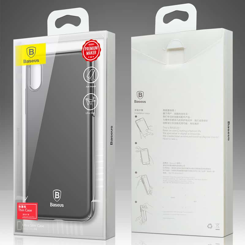 the latest 51c99 41f39 Baseus Ultra thin Protection Case for iPhone X