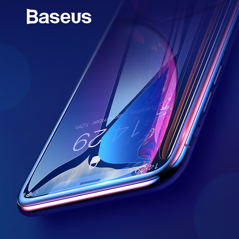 super popular 78a16 80bb5 Baseus 0.3mm Full Coverage Tempered Glass For iPhone Xs Xs Max XR