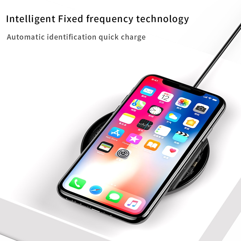 buy online 82299 db043 Baseus 10W Qi Wireless Charger for iPhone X/XS Max XR 8 8 Plus Samsung S8  S9/S9+ Note 9 8