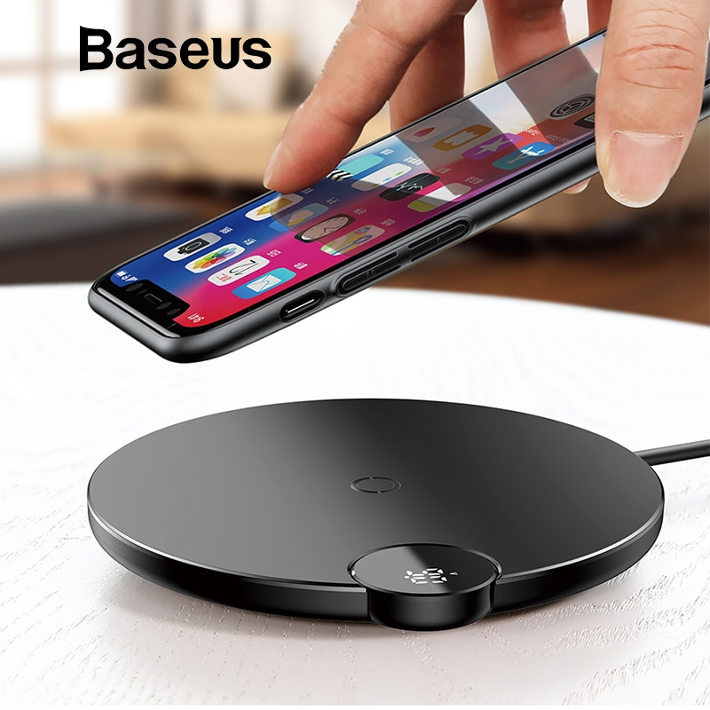 new arrival 84c77 09230 Baseus LCD Digital Display Qi Wireless Charging Pad for iPhone XS Max XR X  8 Samsung Galaxy S8 S9+ Note 9