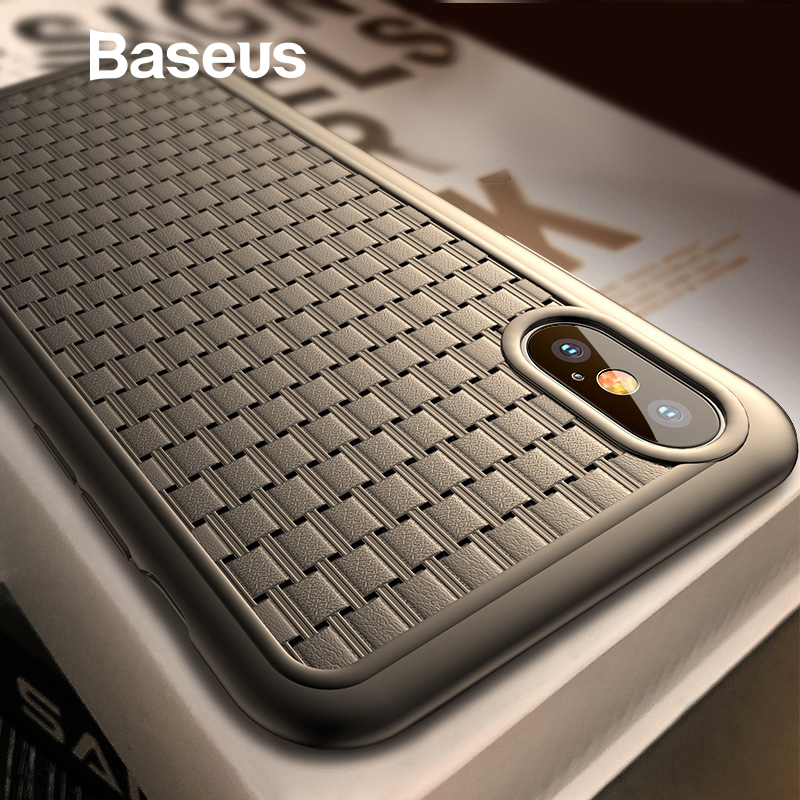 best sneakers 8d655 7f89e Baseus Luxury Weaving Case For iPhone Xs Xs Max XR