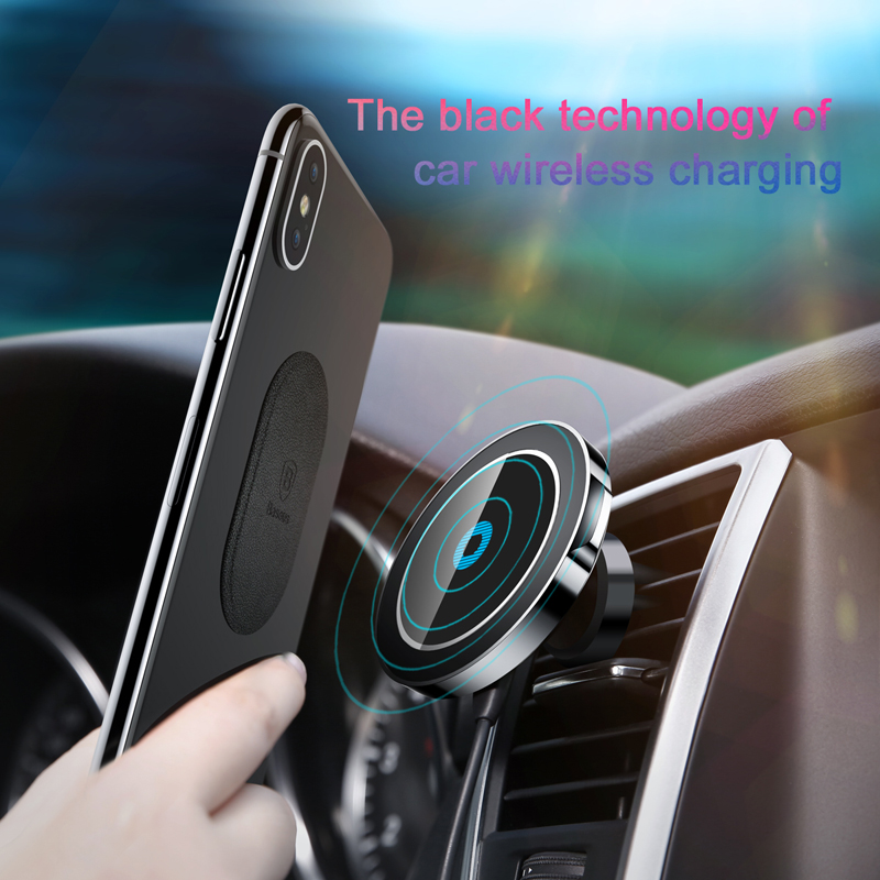 the best attitude e6069 29fdd Baseus Magnetic Car Phone Holder For iPhone Samsung Car Wireless Charger  Holder Stand Magnet Air Vent Mount Mobile Phone Holder