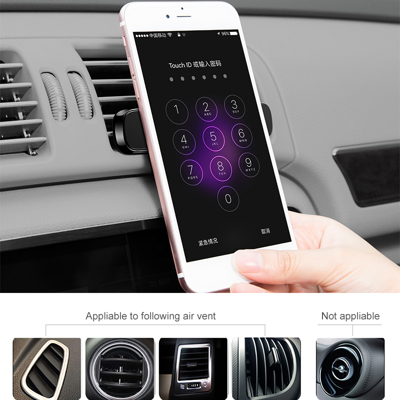 dodocool 3coil Fast Wireless Car Charger Air Vent Suction