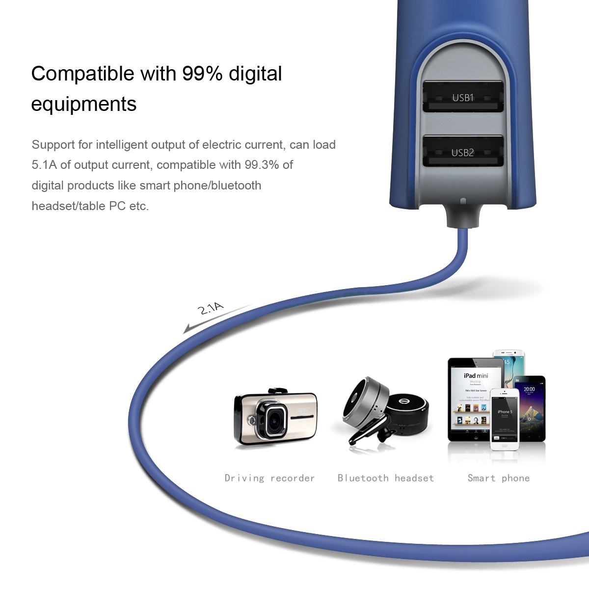 Baseus Car Charger For Iphone With 2 Usb Ports Baseus